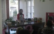 Showcooking para mulheres sem tempo aromatizou Biblioteca de Alpiarça
